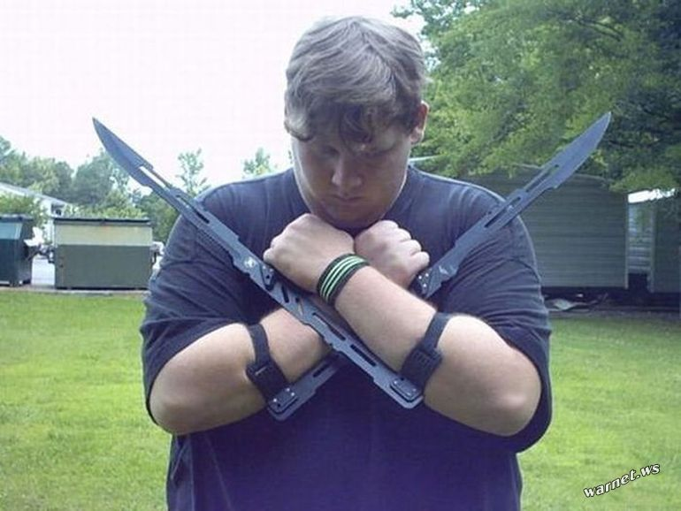 mall ninja blades
