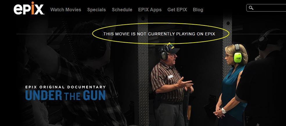 Epix Under the gun Kouric