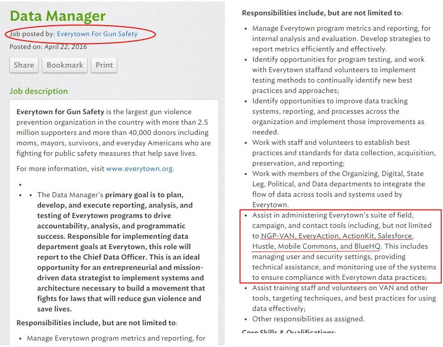 everytown job data manager