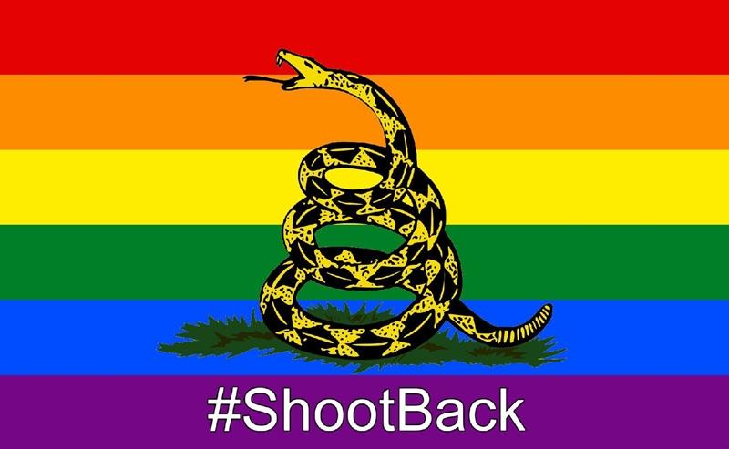 LGBTQ Gadsden Flag