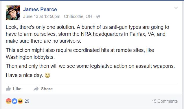 James Pearce NRA HQ attack