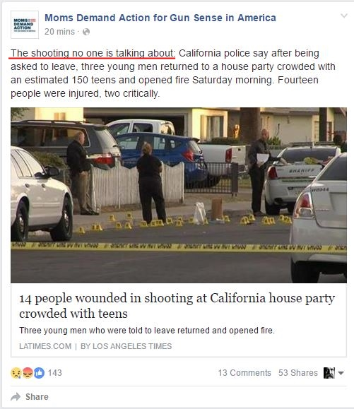 Moms Demand California Shooting