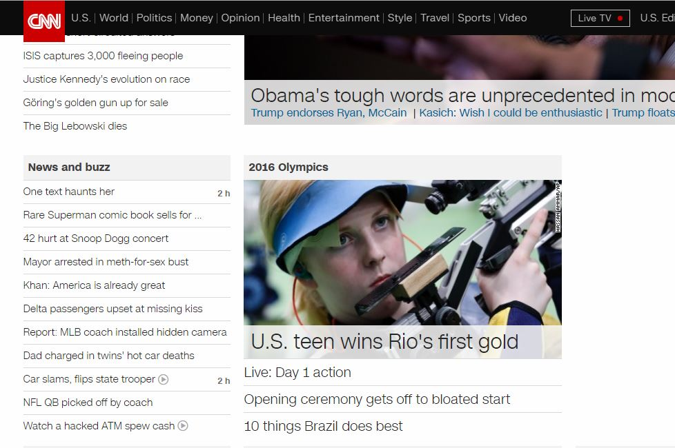 Olympic Gold CNN