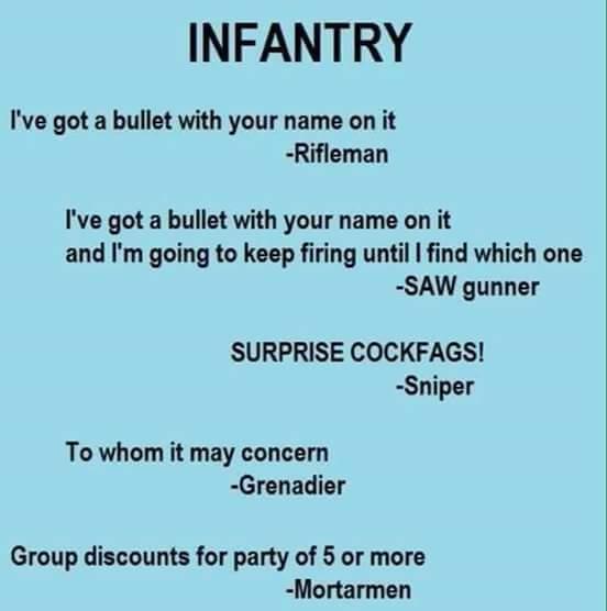 infantry bullet name