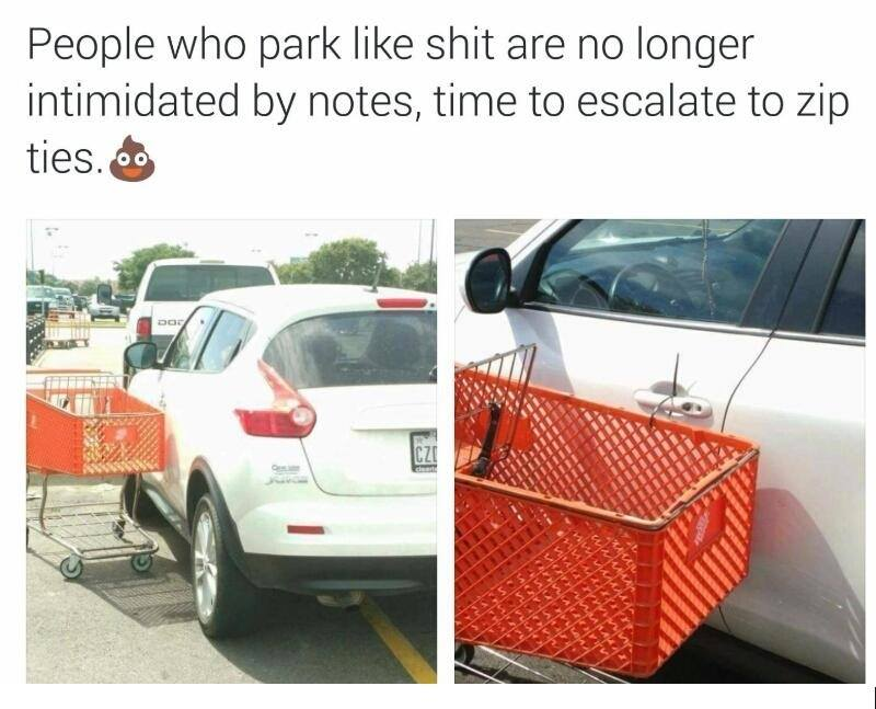 zip tie cart
