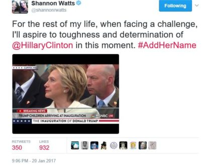 Shannon channels her inner Hillary...Hilarity ensues.