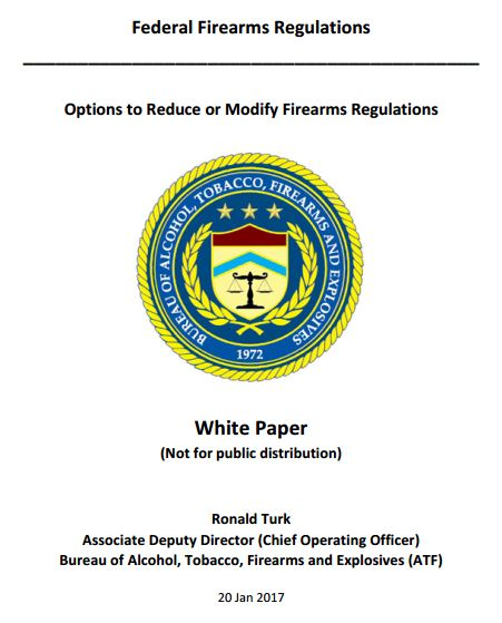 ATF White Paper: Options to Reduce or Modify Firearms Regulations - Naples Gun School FFL sales tranfers class cwp
